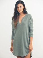 Junk Food Clothing Stray Heart 3/4 Henley Dress-can-xs