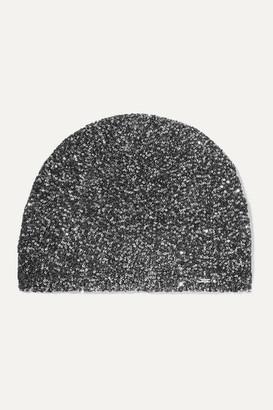 Saint Laurent Sequined Crochet-knit Beanie - Black