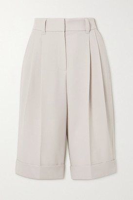 Brunello Cucinelli Pleated Wool-twill Shorts - Ivory