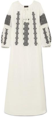 Nili Lotan Valenza Embroidered Cotton-voile Maxi Dress