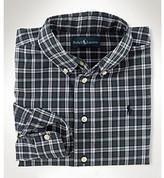 Ralph Lauren Boys' 2T-7 Green Multi Long Sleeve Plaid Blake Poplin Shirt