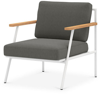 One Kings Lane Andi Outdoor Chair - White/Charcoal