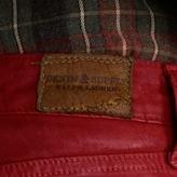 Denim & Supply Ralph Lauren Red Lawton Waxed Skinny Jean