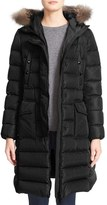 Moncler Women's 'Khloe' Water Resistant Nylon Down Puffer Parka With Removable Genuine Fox Fur Trim
