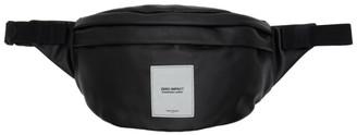 Maison Margiela Black Zero Impact Leather XL Bum Bag