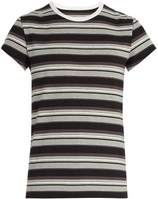 Maison Margiela Striped Cotton-jersey T-shirt - Mens - Black Multi
