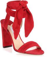Jimmy Choo Kora red suede sandal