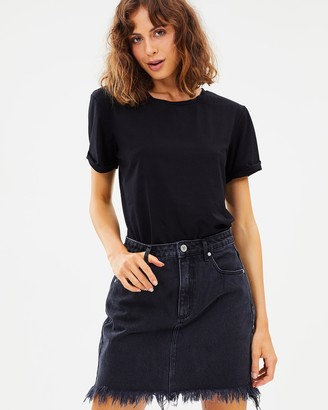 Abrand - Women's Black Denim skirts - A Skirt - Size 6 at The Iconic