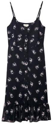 Jack Wills Harbury Button Floral Midi Dress