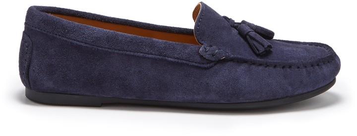 Navy Tassel Loafers Women | Shop the