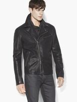 John Varvatos Scaled Leather Moto Jacket