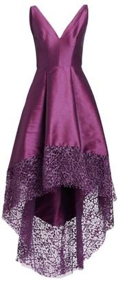 ML Monique Lhuillier V-Neck High-Low Dress