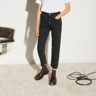 Sandro Straight-cut jeans with raw edges