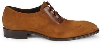 Mezlan Detroit Punctured Suede Derby Shoes