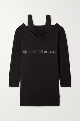 MM6 MAISON MARGIELA Convertible Printed Cotton-jersey Dress - Black