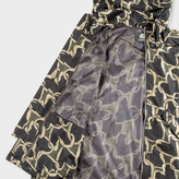 Paul Smith Men's Khaki 'Chain-Link Heart' Print Hooded Jacket