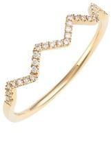 Nordstrom Bony Levy 'Stackable' Zigzag Diamond Ring Exclusive)