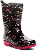 Capelli of New York Shiny Star Clusters Rain Boot (Toddler & Little Kid)