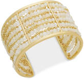 INC International Concepts I.N.C. Gold-Tone Beaded Multi-Row Cuff Bracelet, Created for Macy's