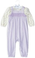 Ralph Lauren Infant Girls' Twill Overall & Floral Bodysuit Set - Sizes 3-12 Months