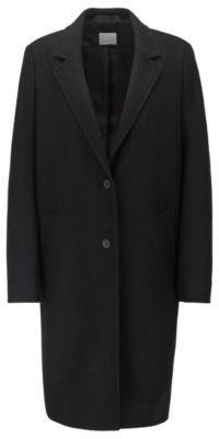 BOSS Regular-fit blazer-style coat in boiled wool