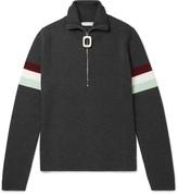 J.w.anderson - Striped Wool Half-zip Sweater