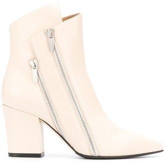 Sergio Rossi Double Zip Ankle Boots