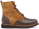 Ugg Hannen Tl Waterproof Leather Lace Up Boots Dark Chestnut