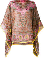 Etro printed cape blouse - women - Silk - One Size