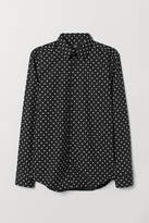 H&M Spotted shirt Slim Fit