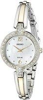 Seiko Women's SUP288 Solar Bangle Analog Display Japanese Quartz Two Tone Watch