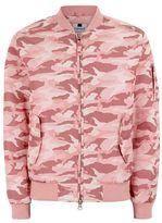 Topman Pastel Pink Camouflage Bomber Jacket