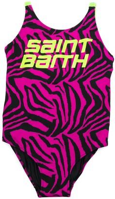 Mc2 Saint Barth Kids TEEN Martin tiger-print swimsuit