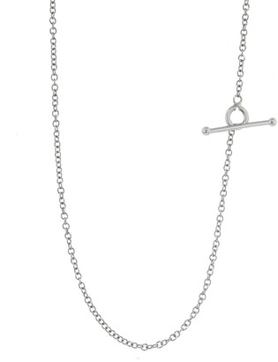 Cathy Waterman 18 Inch Tiny Lacy Chain Necklace - Platinum
