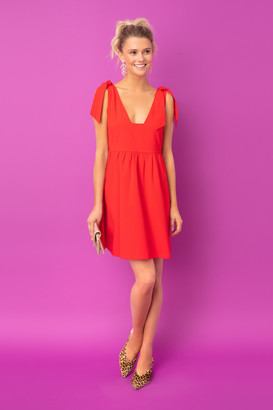 Do & Be Red Knot Tie Sleeveless Dress