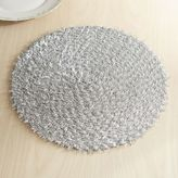 Pier 1 Imports Silver Tinsel Christmas Placemat