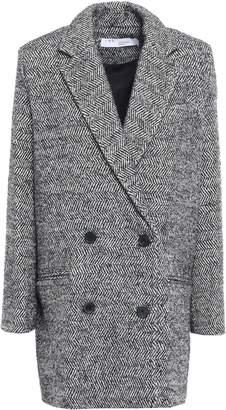 IRO Animal Double-breasted Herringbone Boucle-tweed Coat