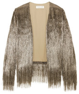 Rachel Zoe Isla Fringed Open-knit Jacket - Copper