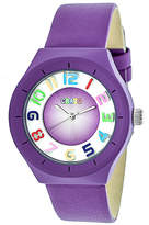 Crayo Unisex Purple Strap Watch-Cracr3507