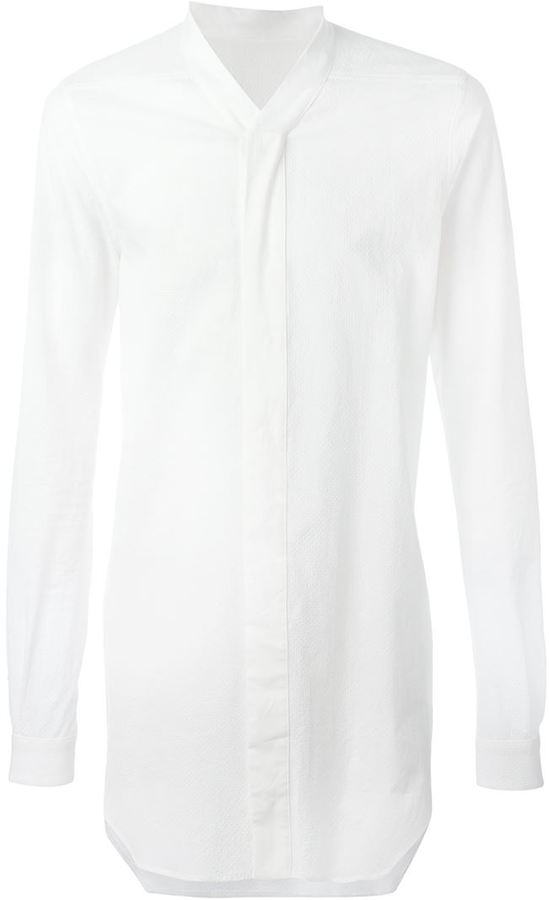 Rick Owens dimpled effect shirt