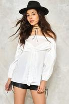 Nasty Gal nastygal Take a Bow Off-the-Shoulder Top
