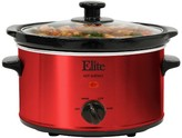 Elite Gourmet Electric Slow Cooker - Red