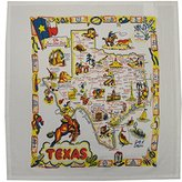Tablecraft Texas State Map Souvenir Dish Towel
