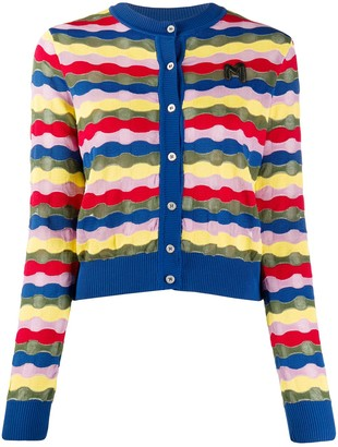 M Missoni Wave-Knit Cardigan