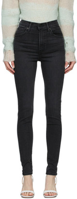 Levi's Levis Black Faded Mile High Super Skinny Jeans