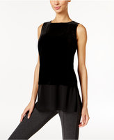 Alfani Petite Velvet Layered-Look Top, Only at Macy's
