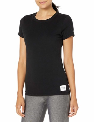 Calvin Klein Women's Logo Patch Crew Neck Tee