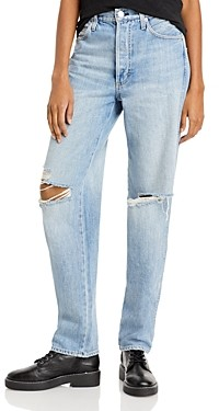 Amo Harlow Distressed Jeans in New Retro