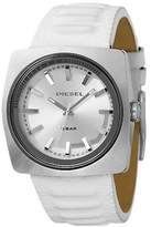Diesel Analog White Leather Silver Dial Men's Watch #DZ1303