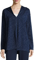 Max Studio Space-Dye Pullover Sweater, Navy/Ivory
